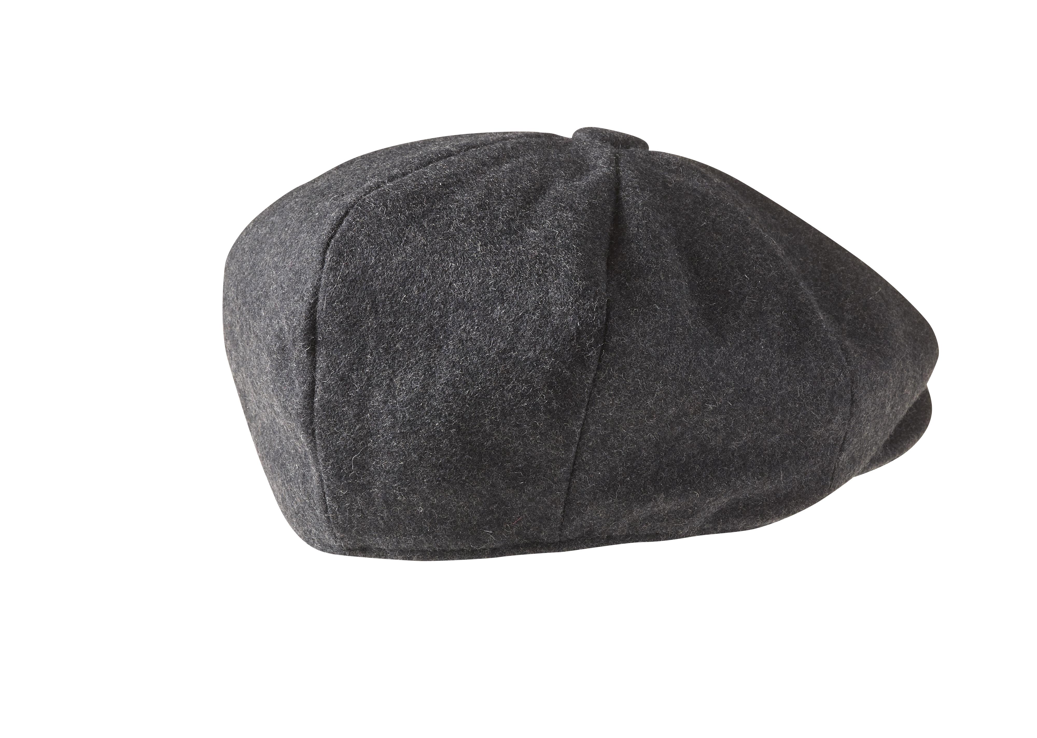 11f7644fecc Peaky Blinders - 100% Melton Wool Charcoal Grey Newsboy Cap