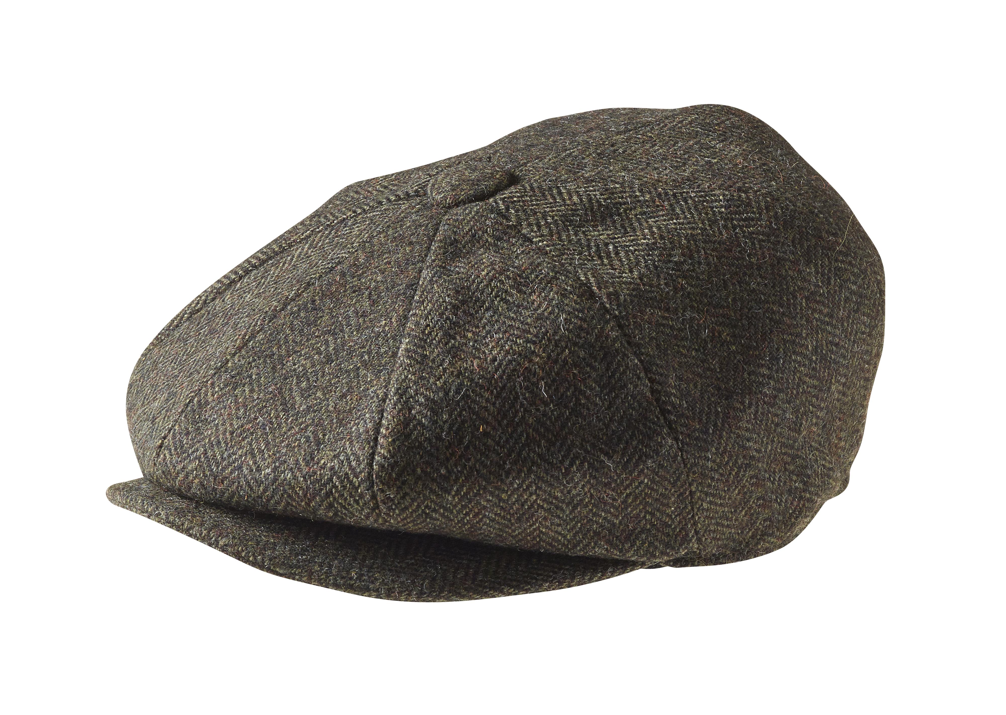 f10dcf720 Melton Wool Green Herringbone Newsboy Cap