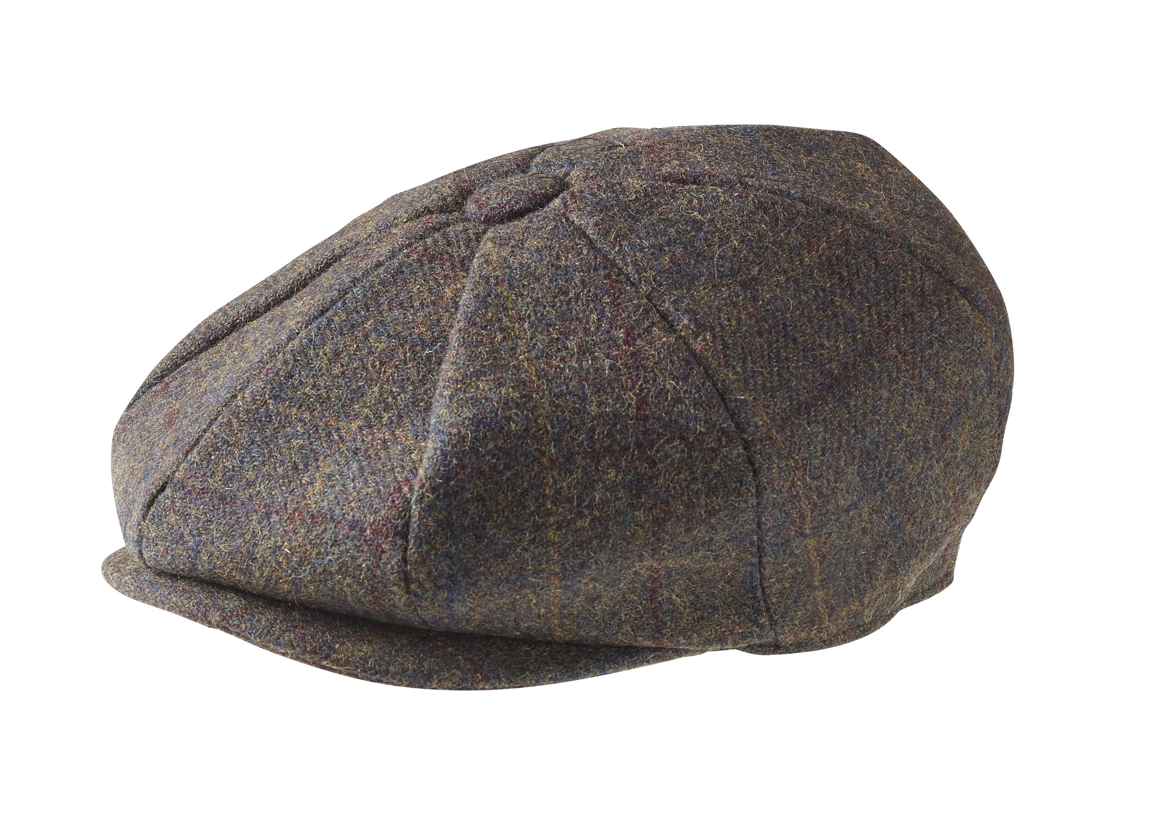 Peaky Blinders 100 Wool Mountain Tweed Brown Newsboy Cap