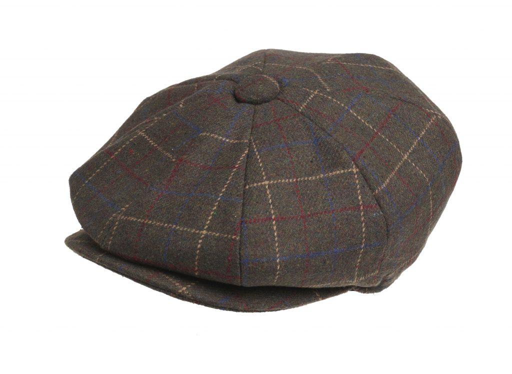 peaky blinders 100 wool brown overcheck newsboy cap