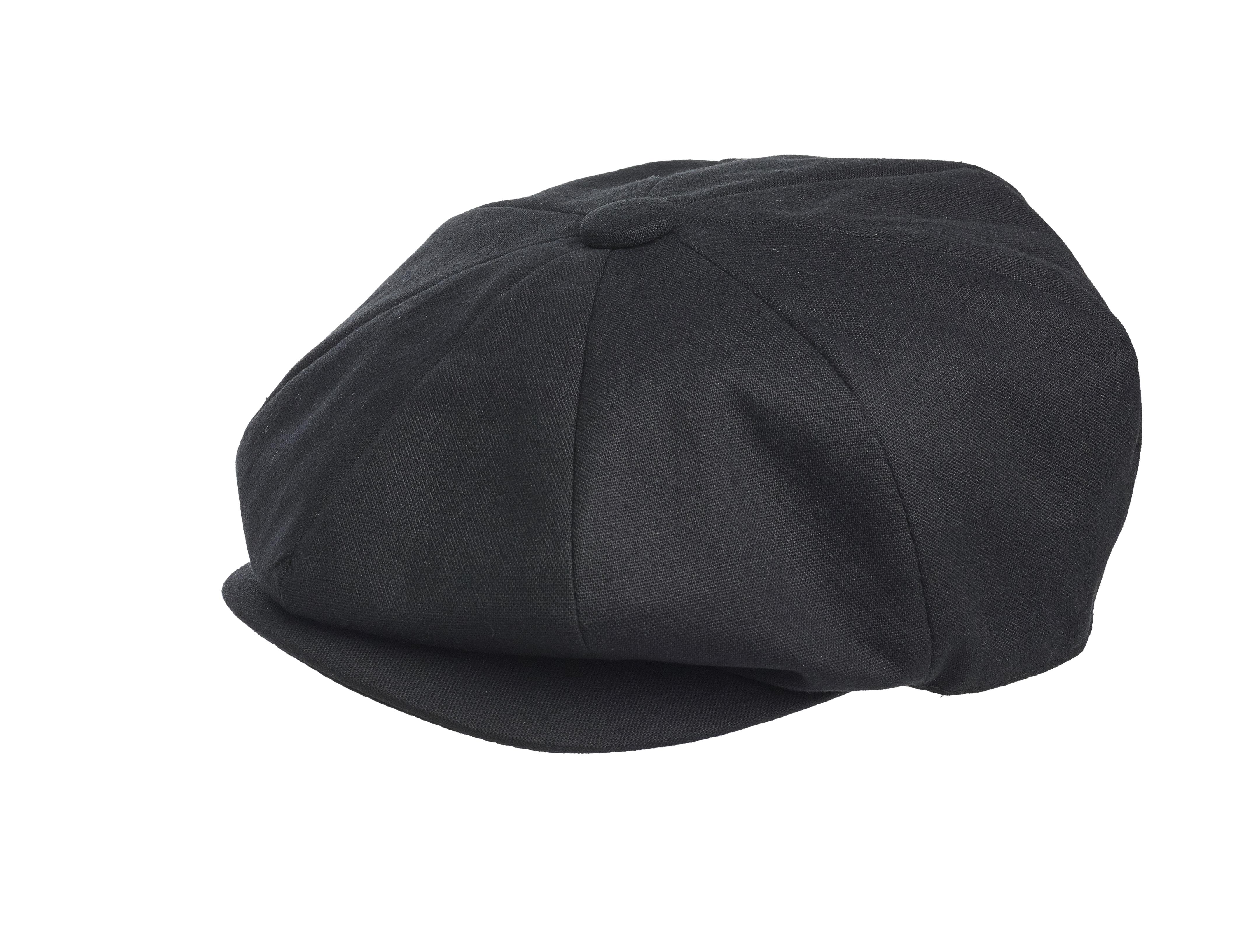 Peaky Blinders 100 Cotton Newsboy Cap Black