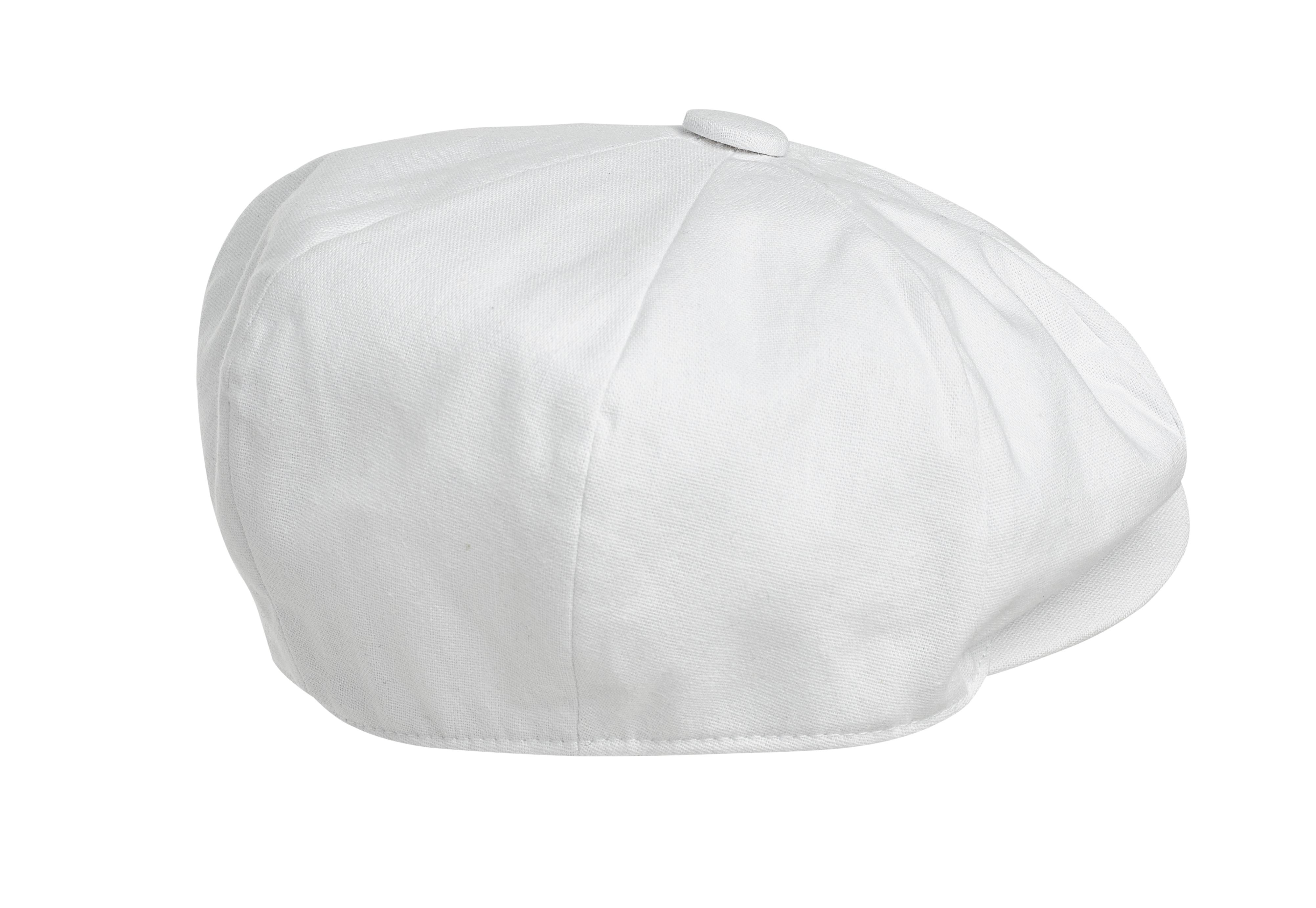 Peaky Blinders Cotton 8 Piece Newsboy Cap White