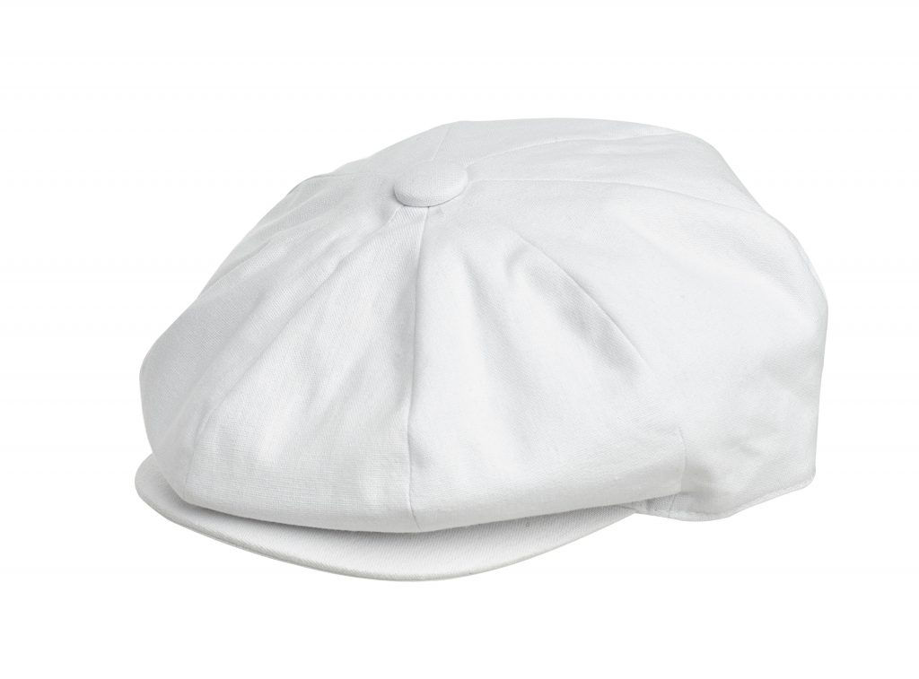 ca38623147bd Newsboy Caps from Peaky Blinders. The definitive choice for authentic Newsboy  Caps in all sizes and styles. CottonPeaky_White_Detail  CottonPeaky_White_Back