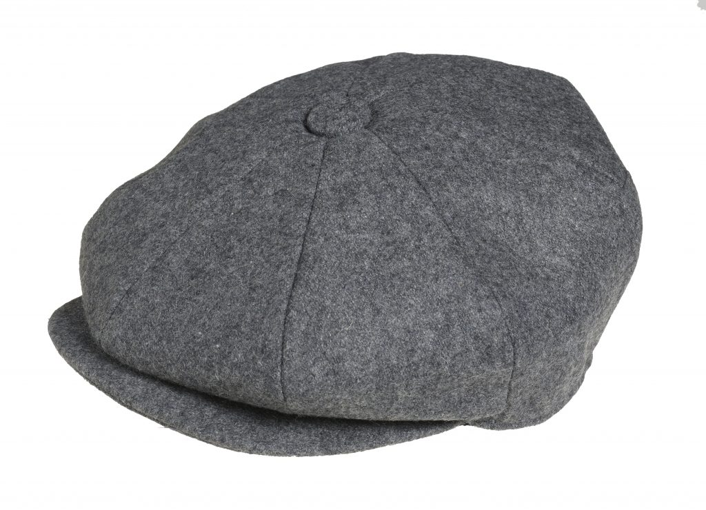 47b4c839b4c Peaky Blinders 100% Melton Wool Grey Newsboy Cap
