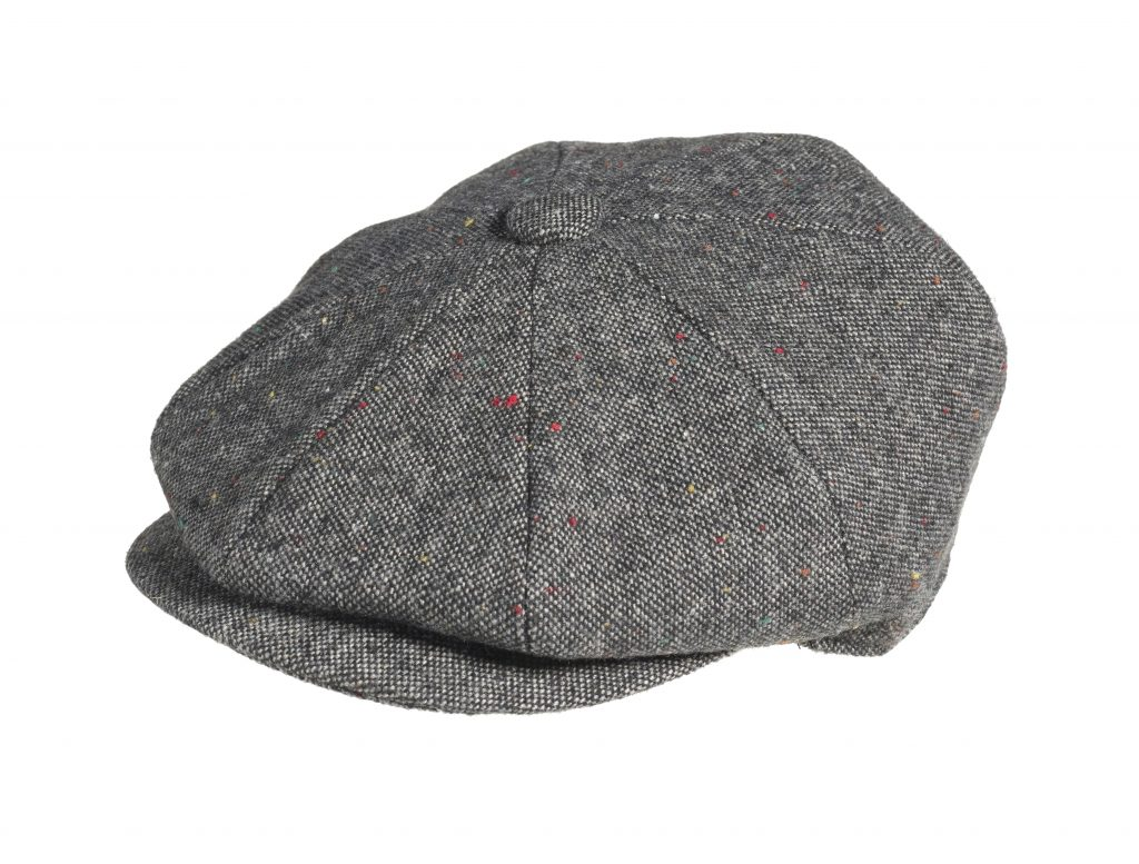 f8080ffc9 Tweed Wool – Croagh Black Newsboy Cap