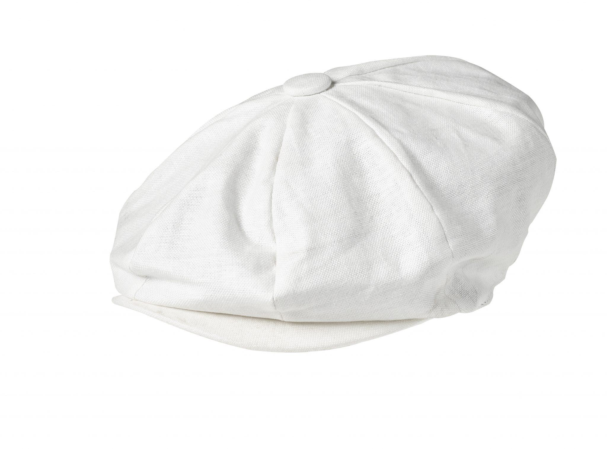 d7d82f165b9 Peaky Blinders 100% Linen 8 Piece Newsboy Cap White Summer Style